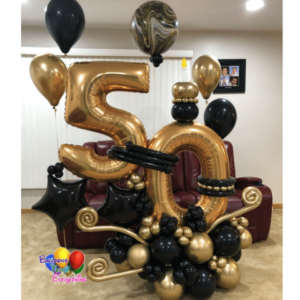 Golden Years Balloon Bouquet