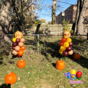 Balloon Decorations, Yard Balloon Decor, Classic with Foil Balloon Stick