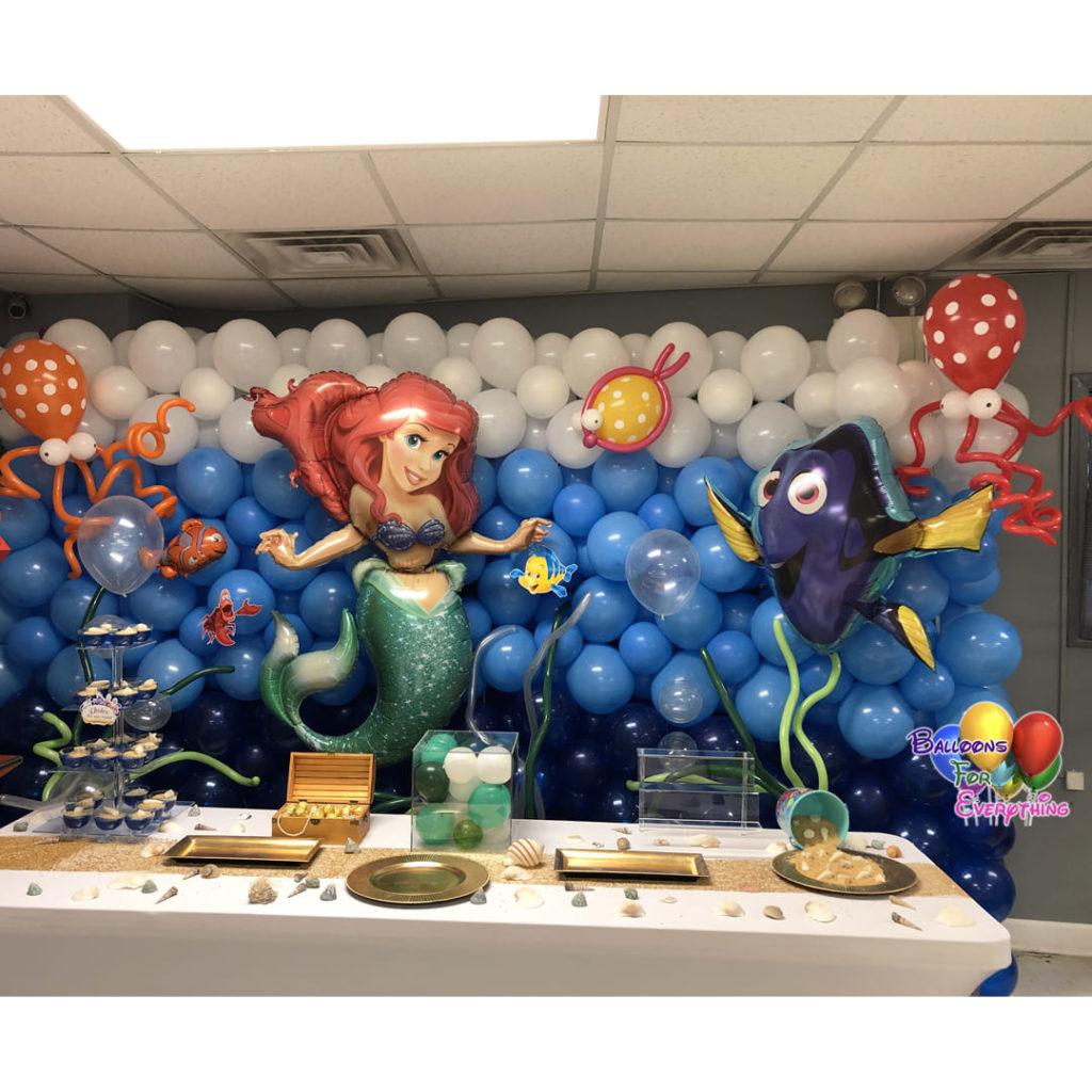 Little Mermaid Balloon Wall
