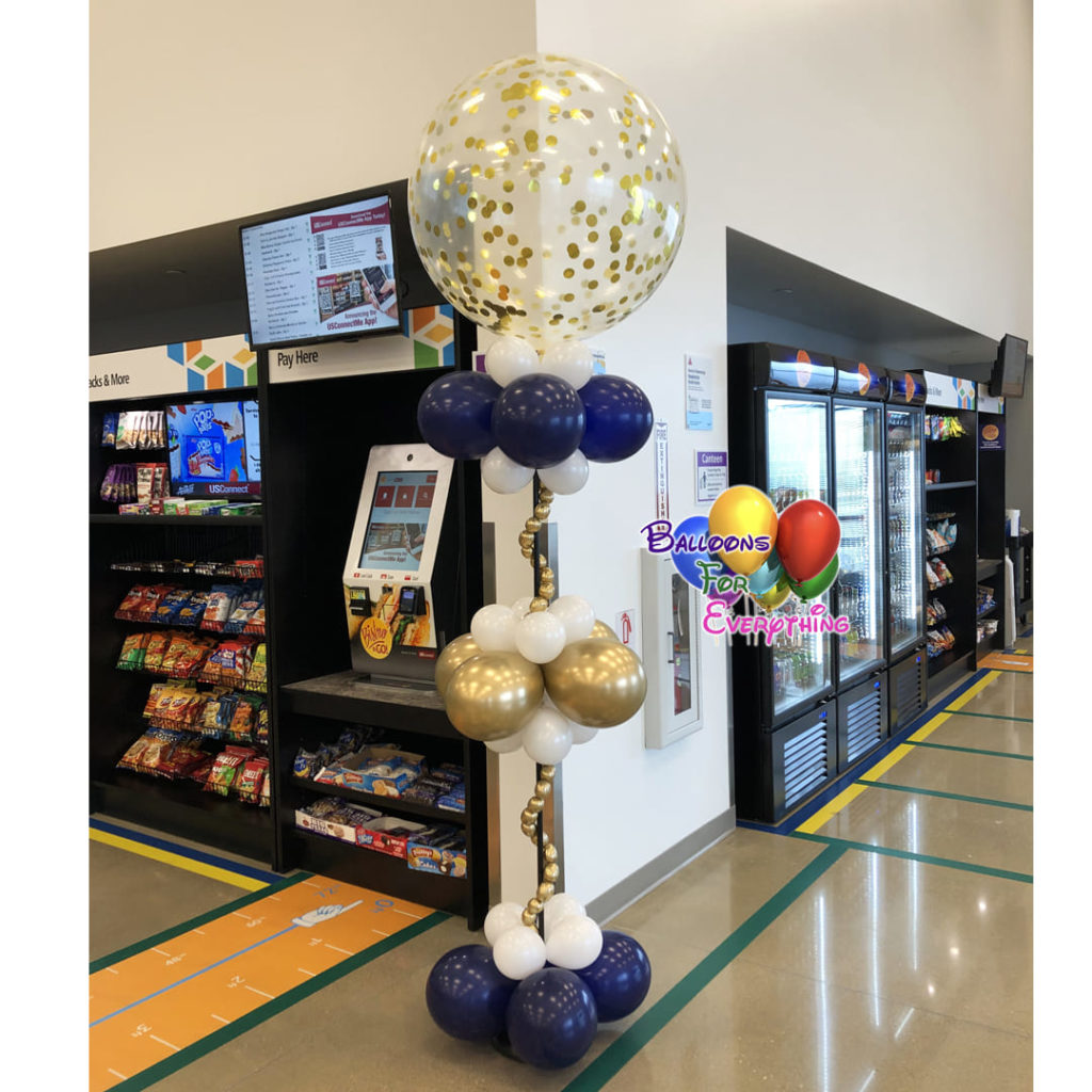 Elegant Confetti Balloon Column