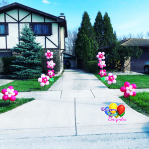 Balloon Decorations, Yard Balloon Decor, Flower Stick