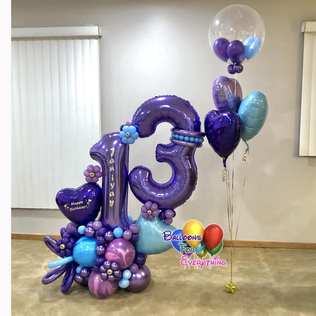 Girly Birthday Balloon Bouquet