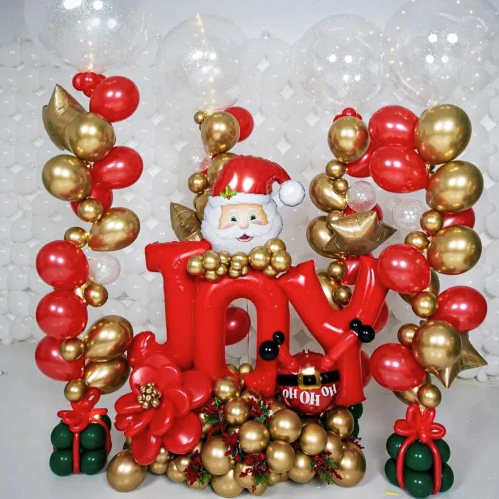 Joy Xmas Balloon Bouquet