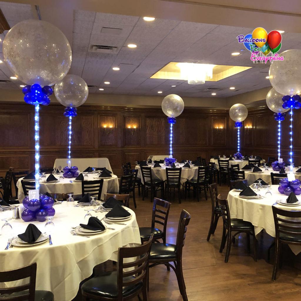 LED Glitter Balloon Centerpieces