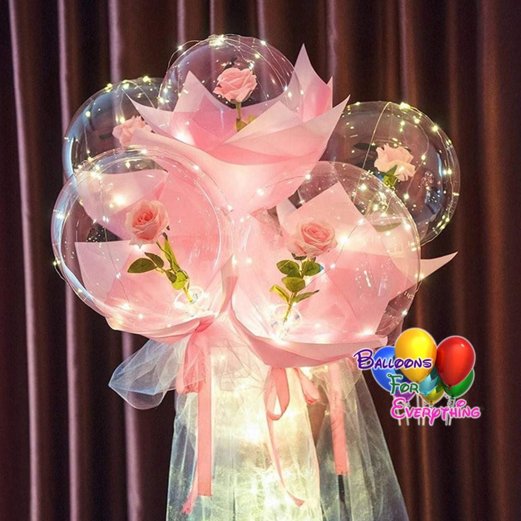 LED Luminous Roses Balloons Bouquet