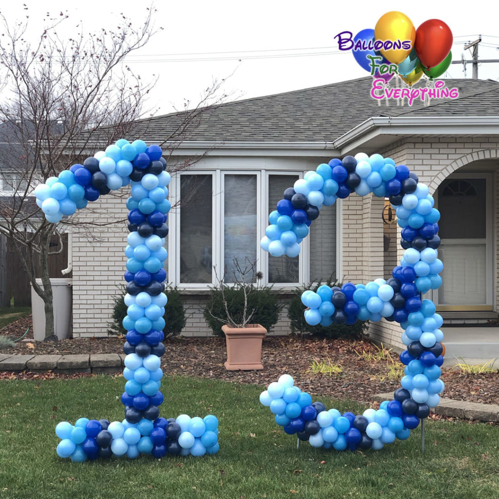 Numbers & Letters Balloon Sculptures