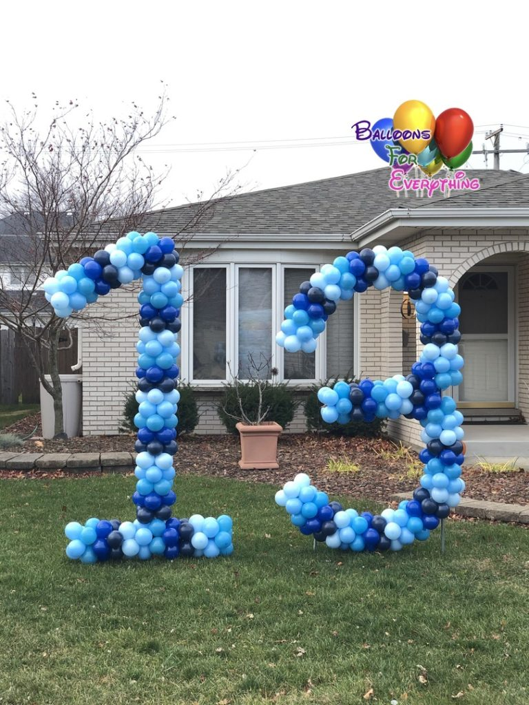 Numbers & Letter Balloons Google Birthday Party Yard Decor