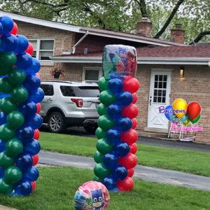 Big Column with Foil Balloon