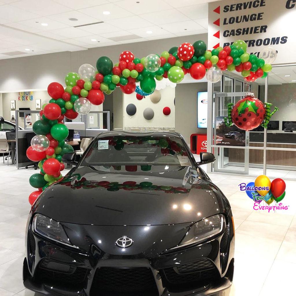 Car Dealership Balloon Decor