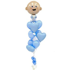Baby Boy Balloon Bunches