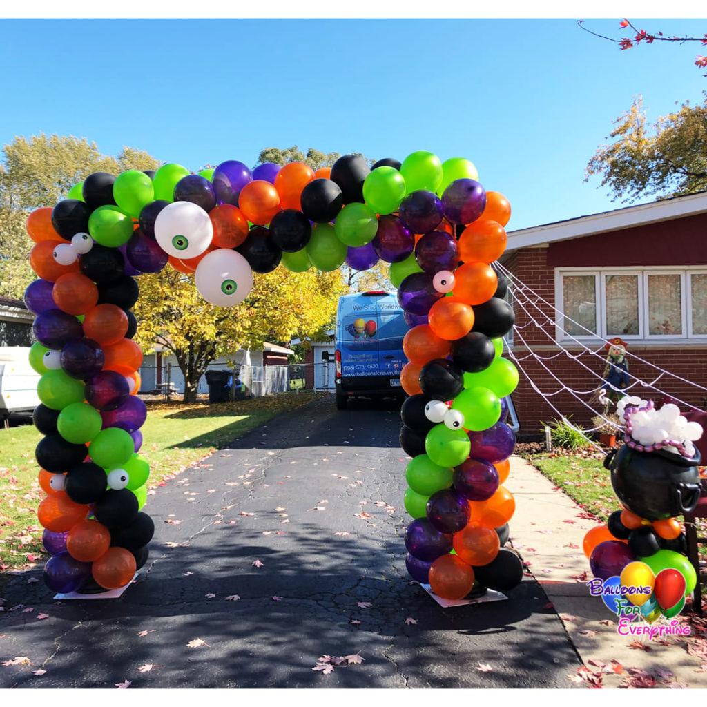 Boo Square Balloon Arch