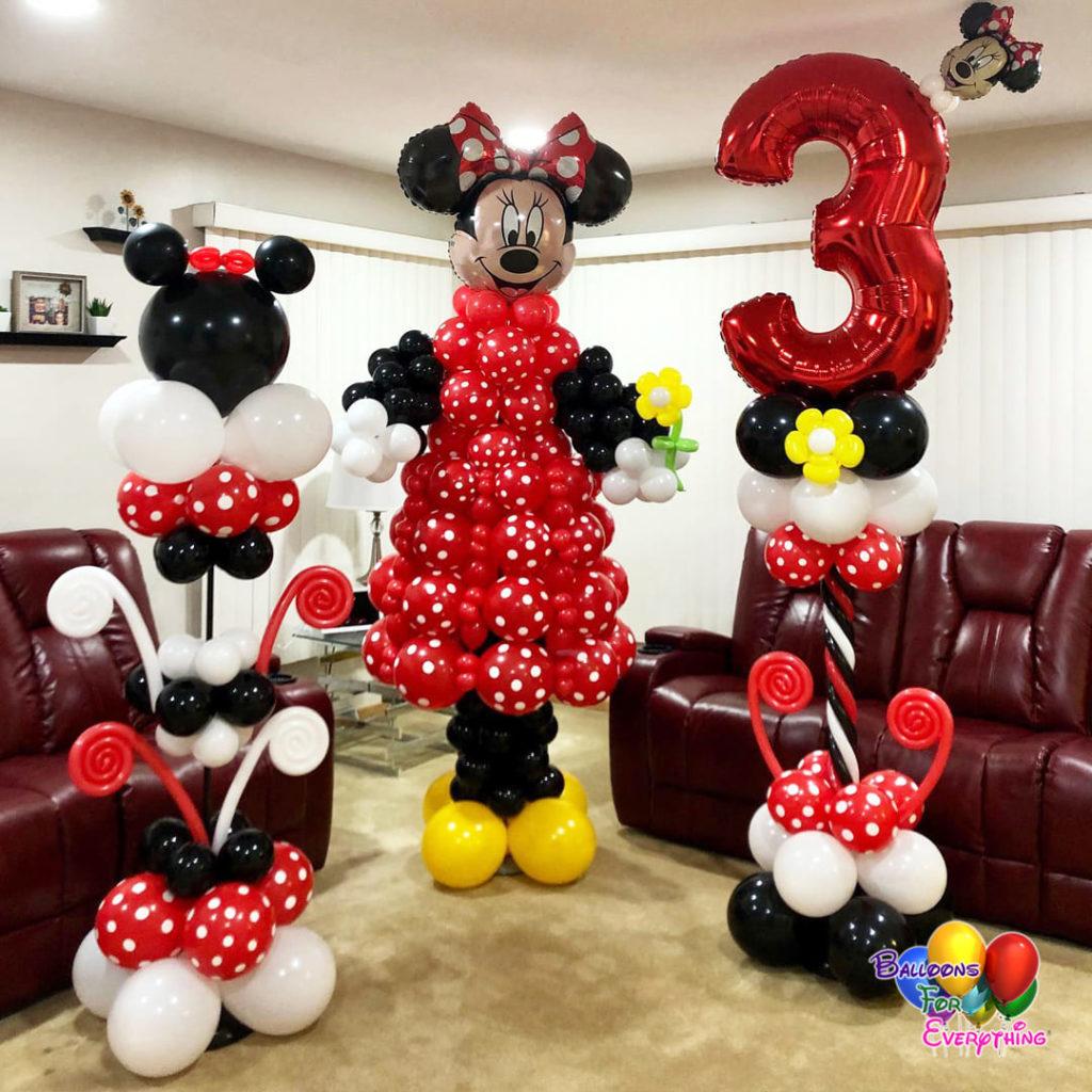 Minnie Balloon Columns