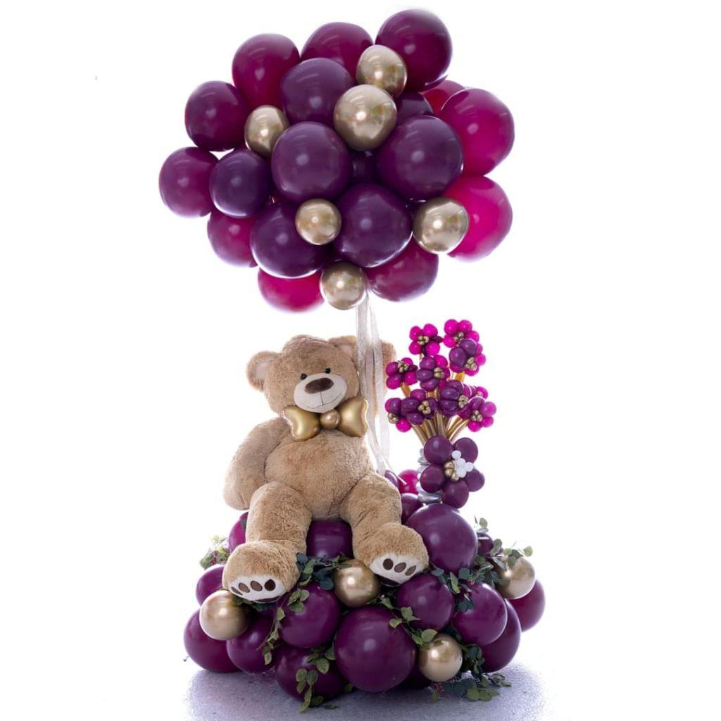 Enormous Teddy Bear Balloon Bouquet