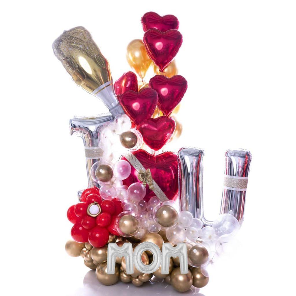 I Love You Mom Balloon Bouquet