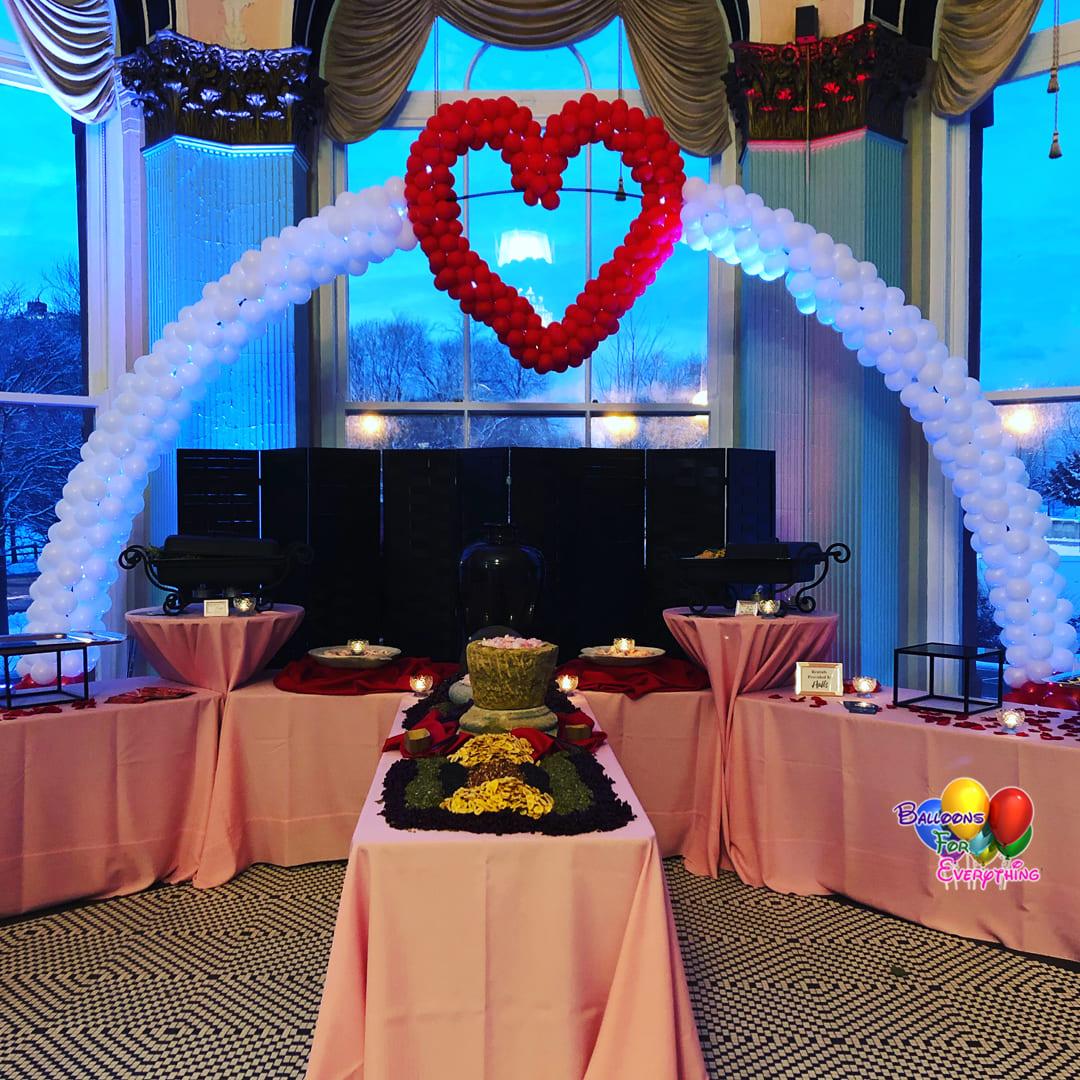 Love Heart Balloon Arch