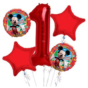 Mickey Mouse 1st Birthday Balloon Bouquet