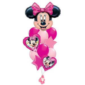 Minnie Mouse Birthday Balloon Bouquet