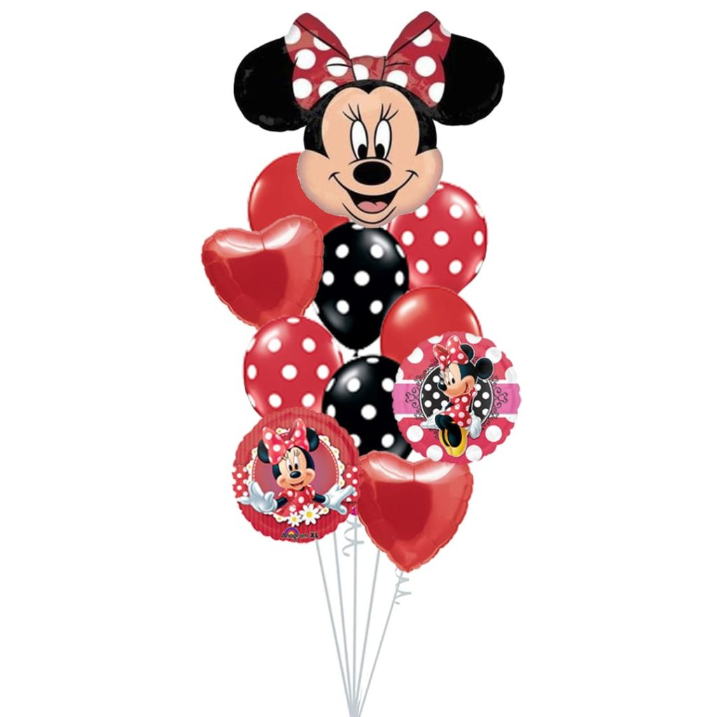 Red Minnie Mouse Balloon Bouquet