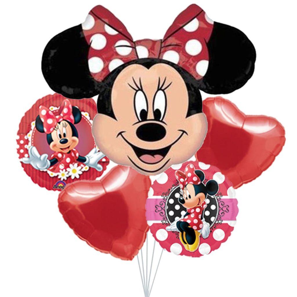 Red Minnie Balloon Bouquet