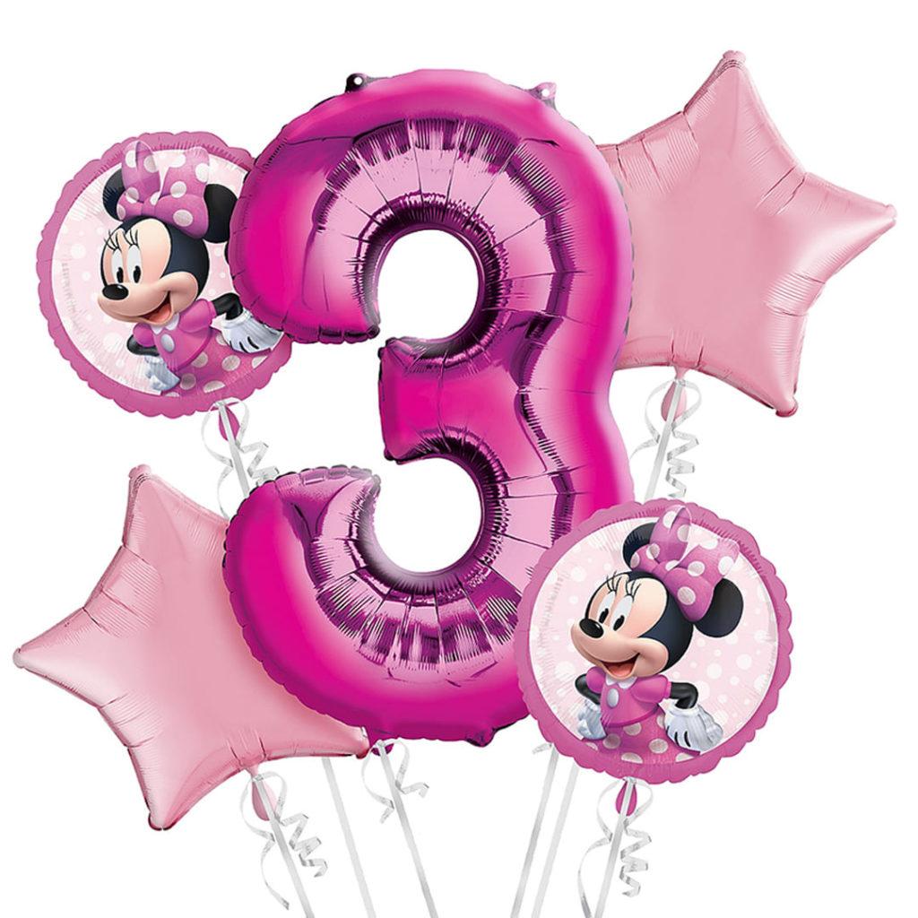 Minnie 3rd Birthday Balloons