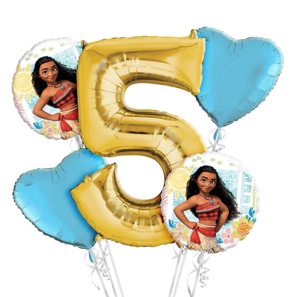 Moana 5th Birthday Balloons