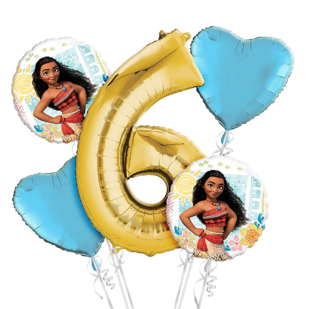 Moana 6th Birthday Balloons