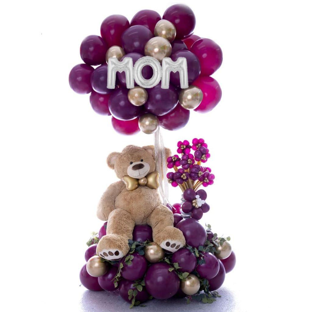Mom Enormous Teddy Bear Balloon Bouquet