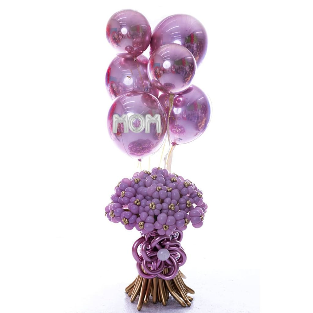 Mom Flowers Up Balloons Bouquet