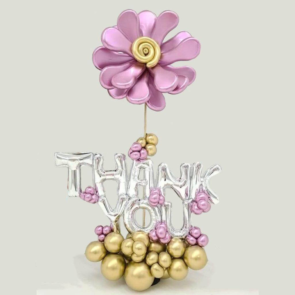 Thank You Flower Balloon Bouquet