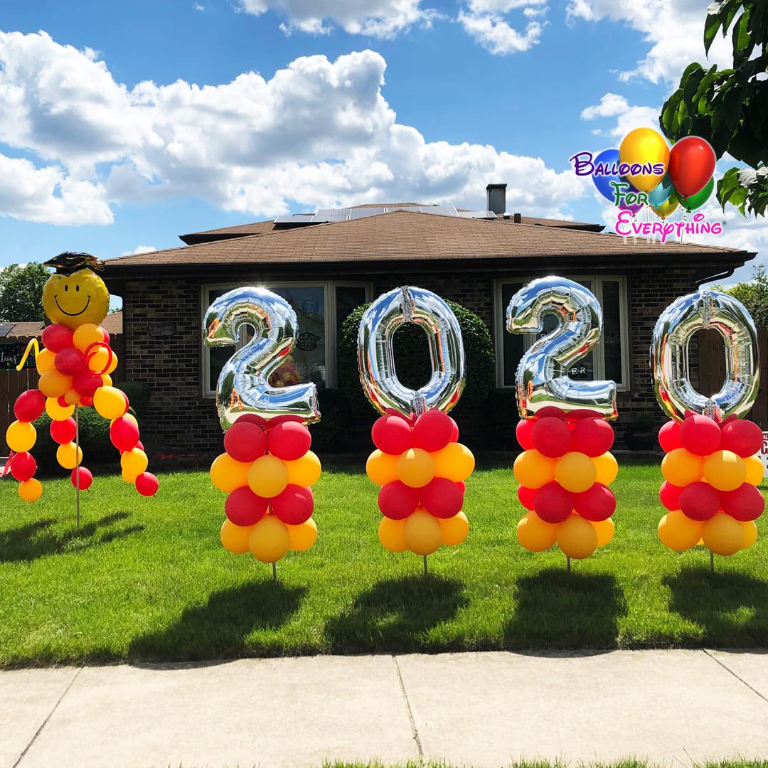 Celebration Yard Balloon Decor