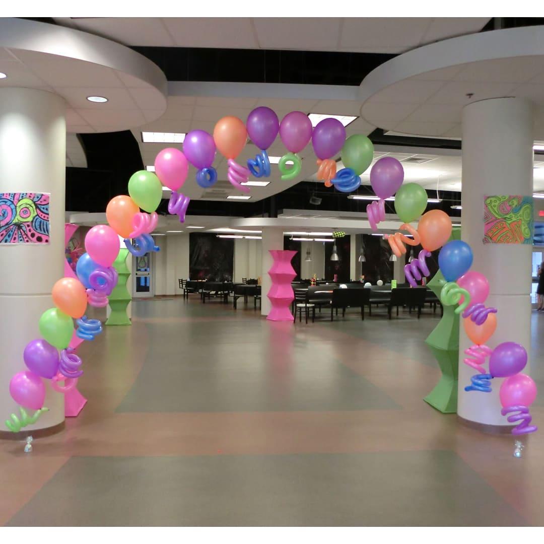 Neon Balloon Arch