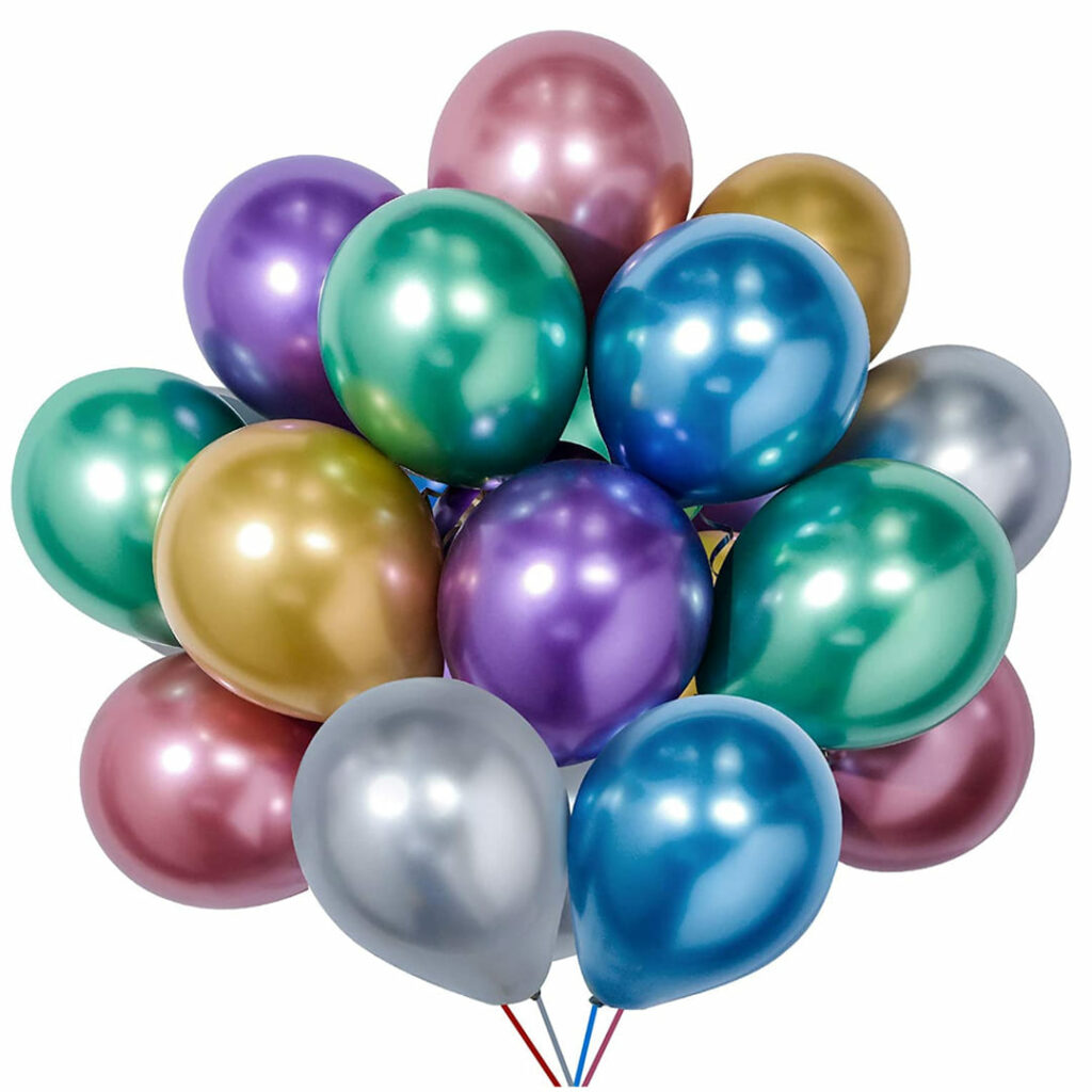 Assorted Chrome Balloons