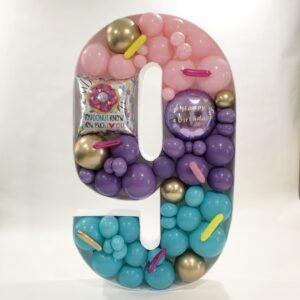 Mosaic Number Balloon