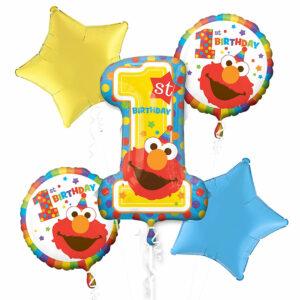 Elmo 1st Birthday Balloon Bouquet