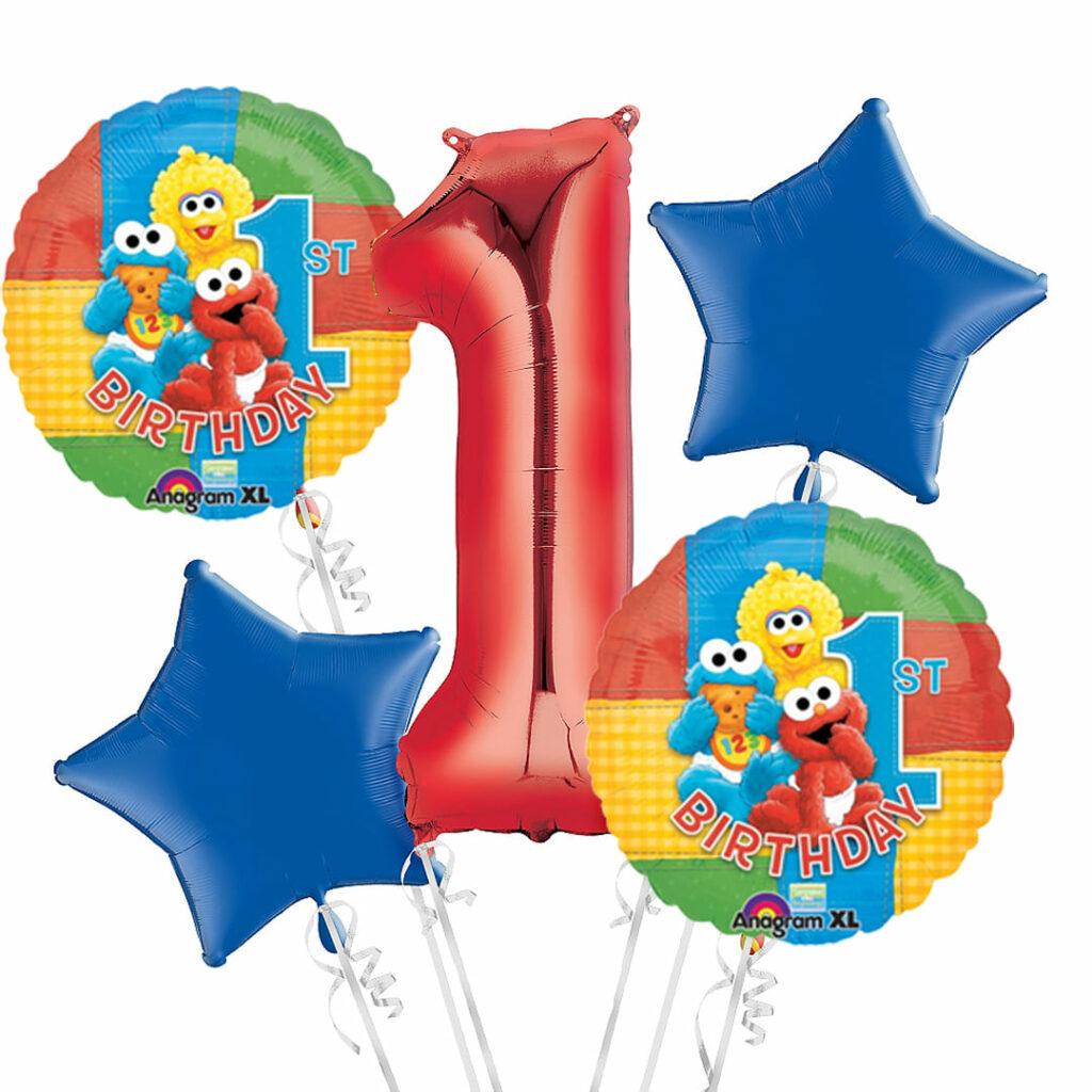 Baby Elmo 1st Birthday Balloons