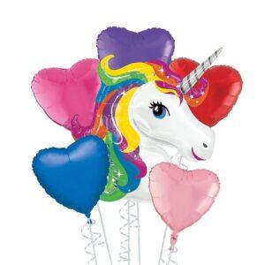 Rainbow Unicorn Balloon Bouquet