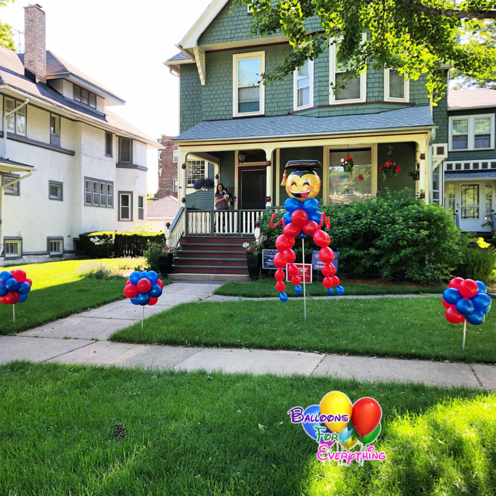 Happy Grad Balloon Yard Decor